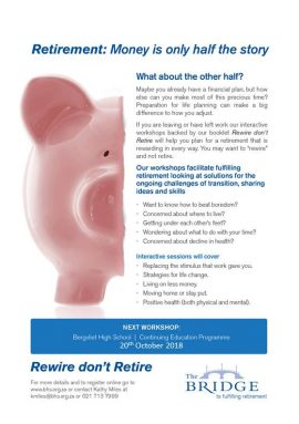 Retirement- Half the money 20th October 2018